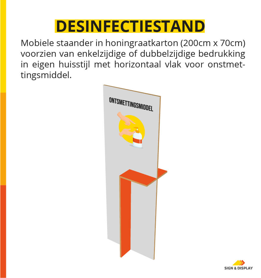 Covid-19 desinfectiestand