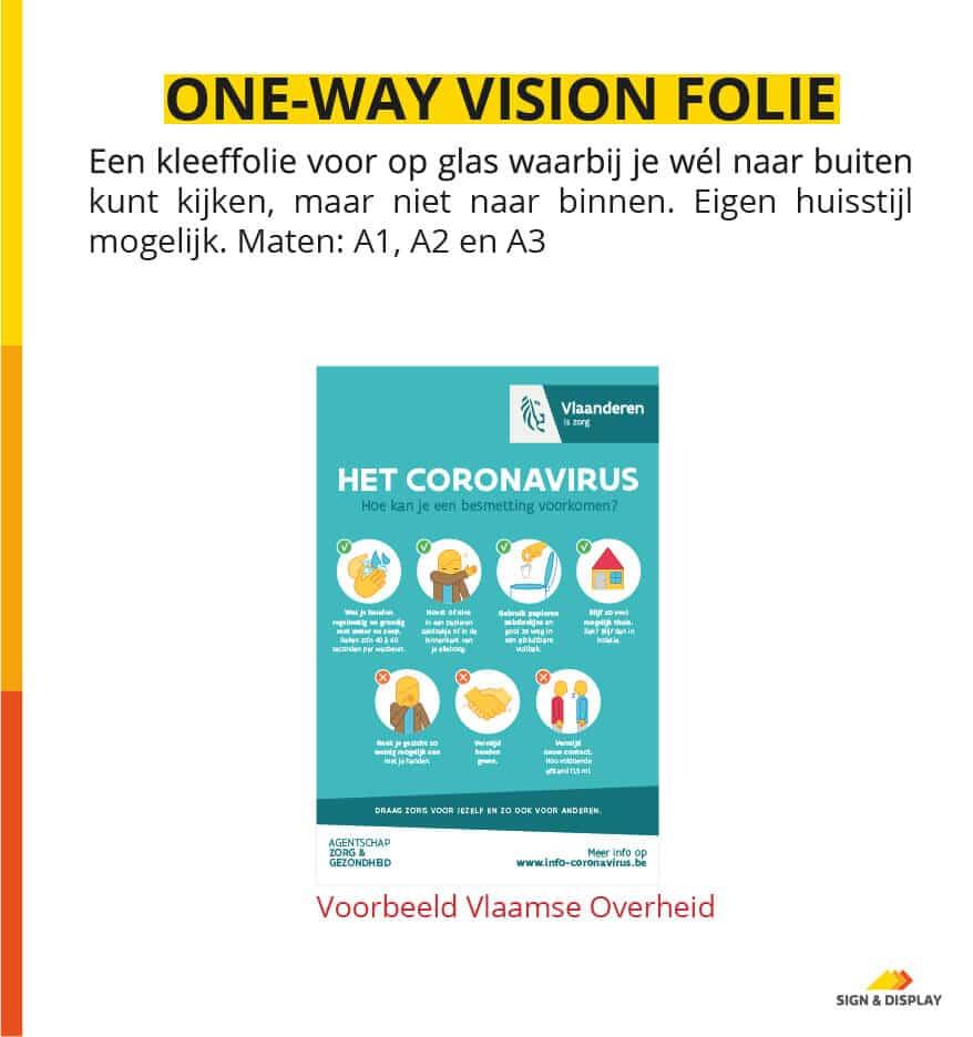 Covid-19 one-way vision folie