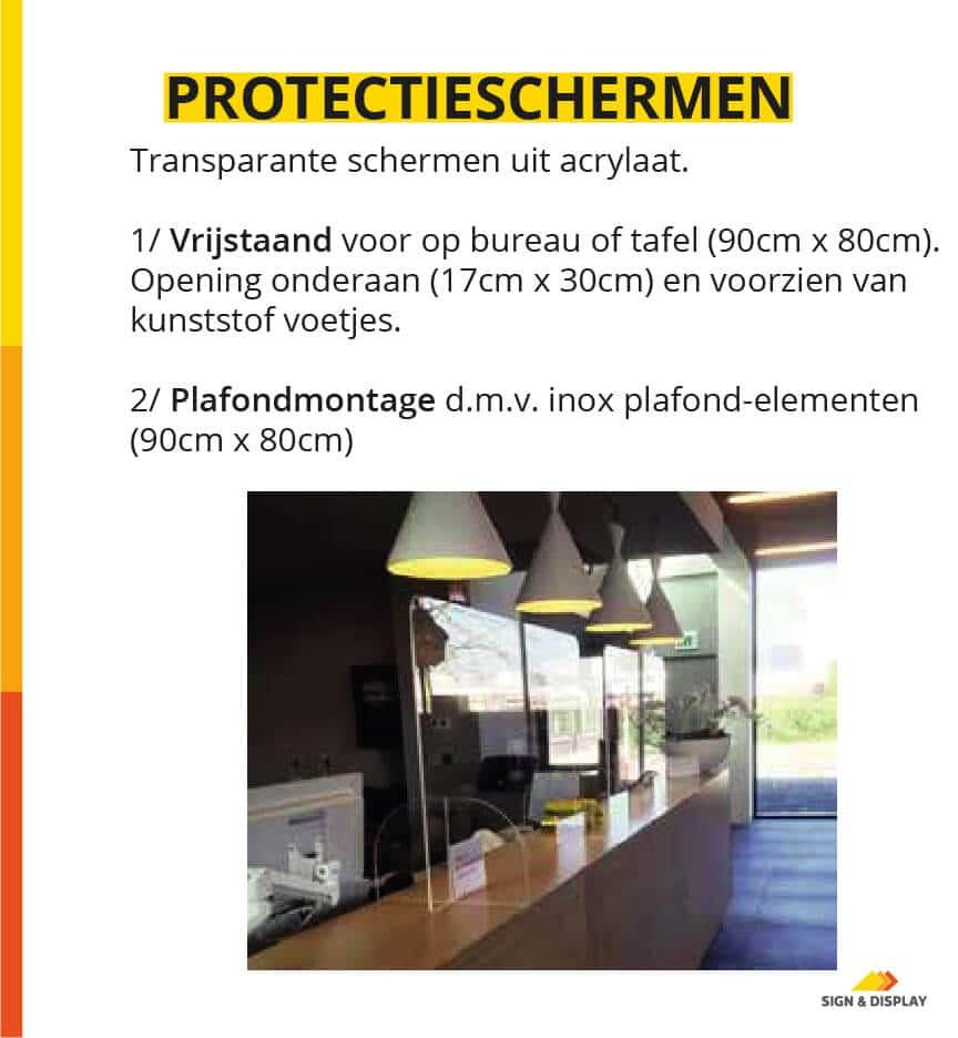 Covid-19 protectieschermen