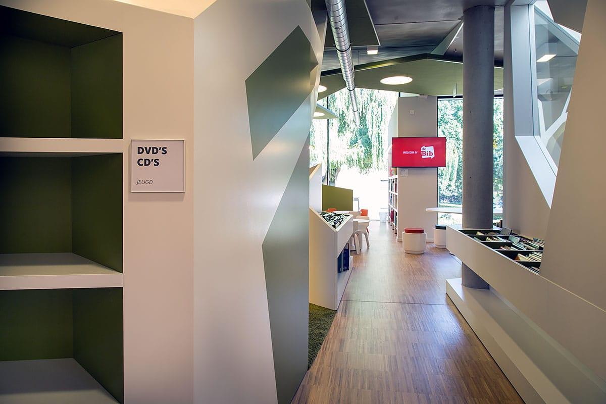 Signalisatie - De Kimpel Bibliotheek - Bilzen - Sign & Display