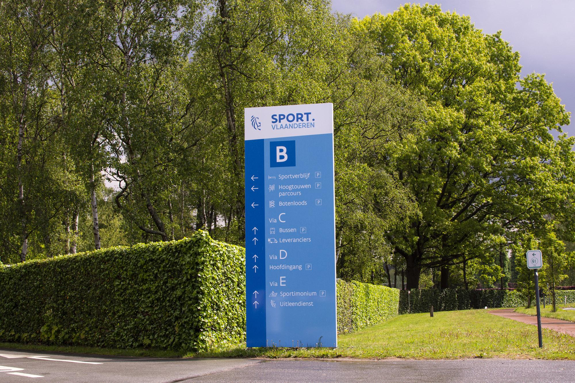 Signalisatie - Sport Vlaanderen - Sign & Display