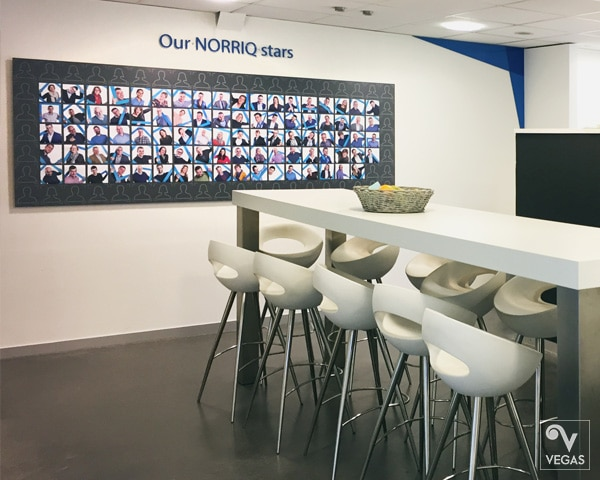 Norriq - Magneetbord - Office branding - Binnenbranding