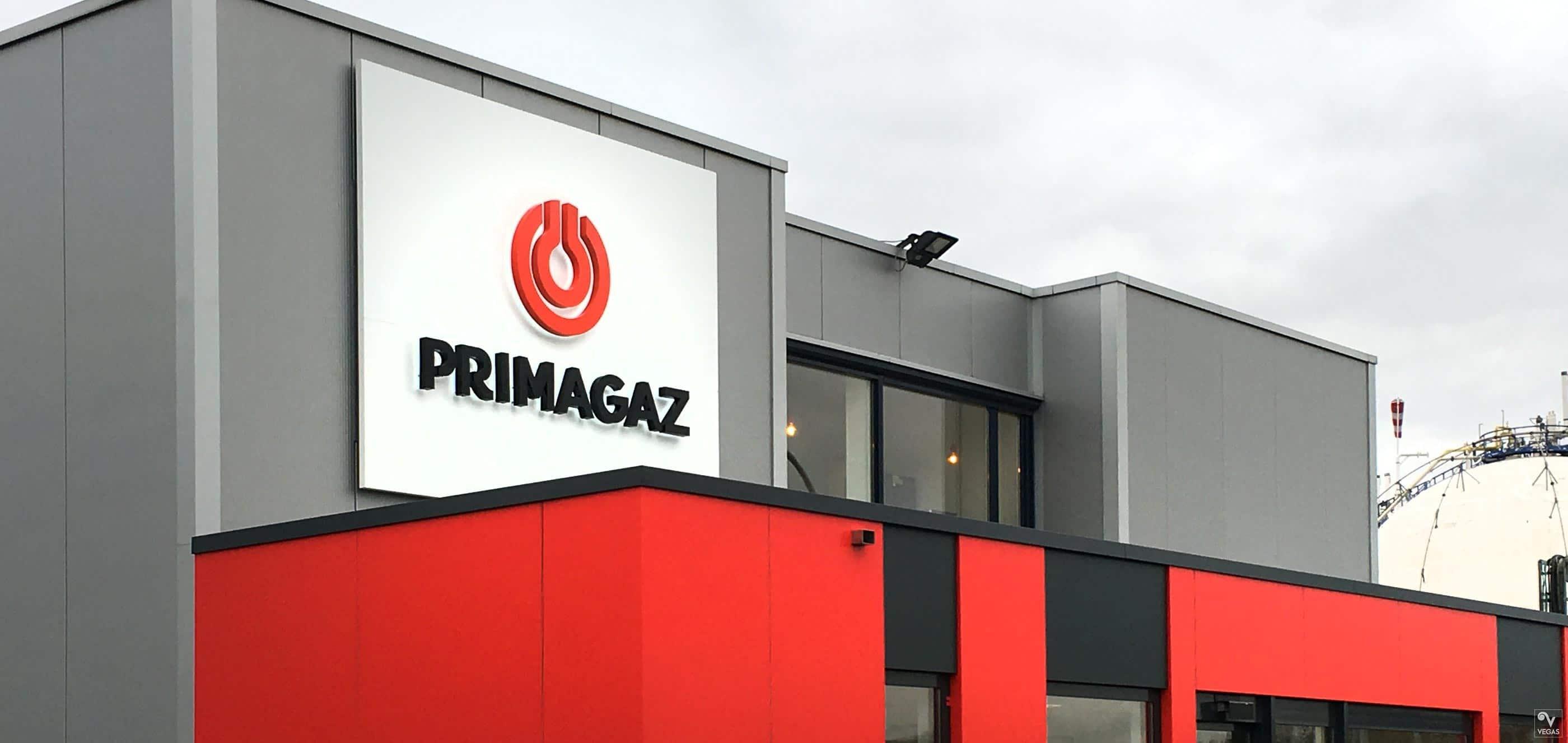 Primagaz - Rebranding - Buitenreclame - Doosletters