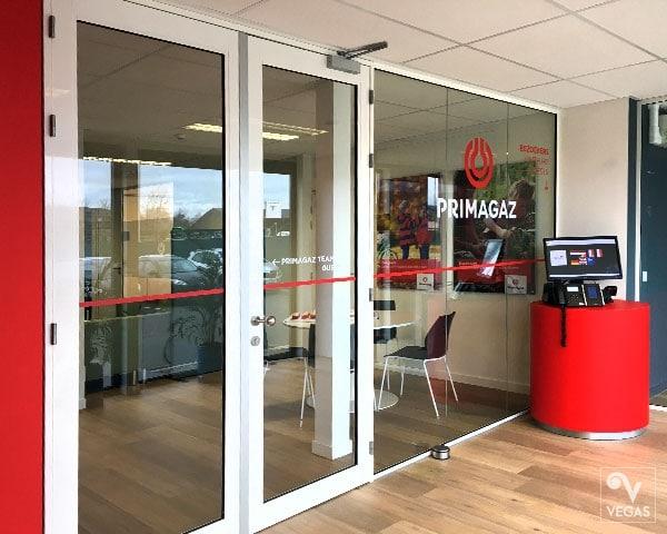 Primagaz - Raambelettering - Office branding