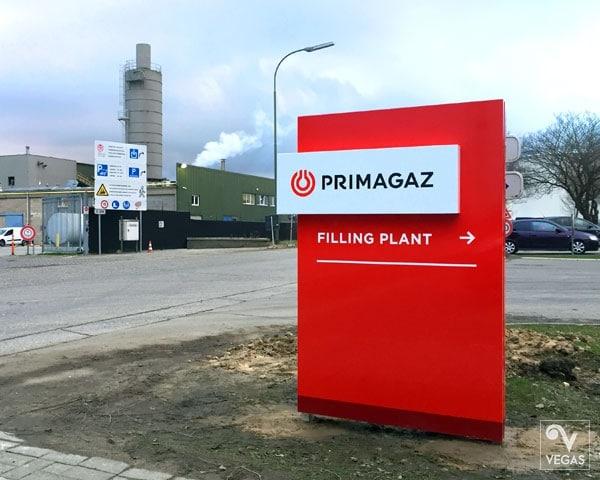 Primagaz - Rebranding - Buitenreclame - Zuil