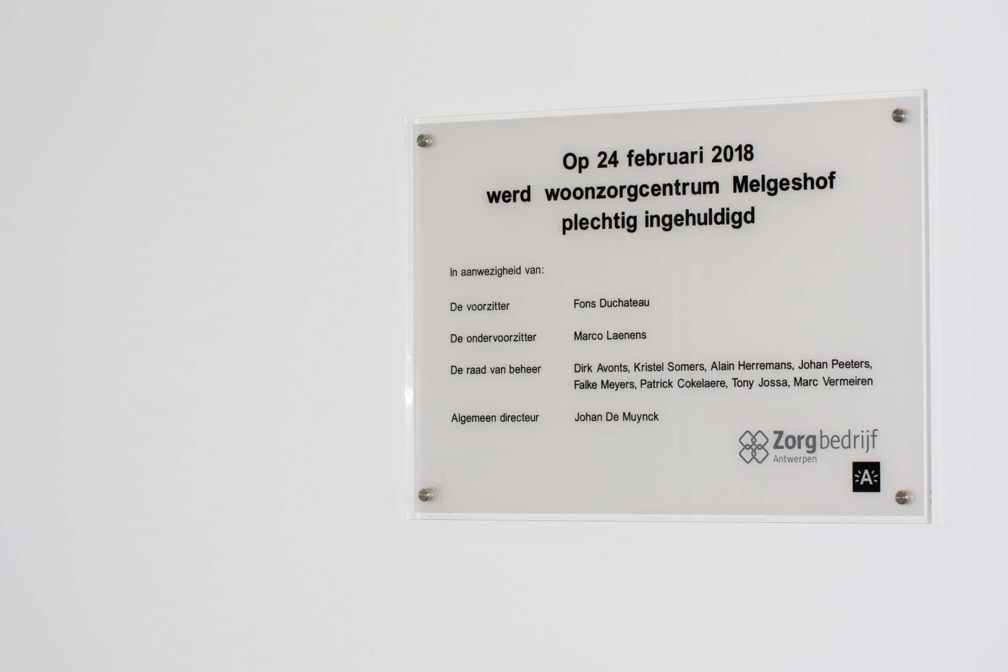 Zorgbedrijf Melgeshof - binnensignalisatie